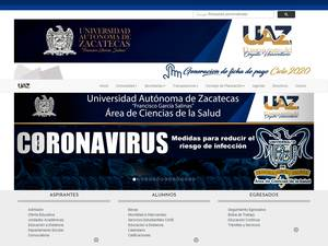 Universidad Autónoma de Zacatecas's Website Screenshot