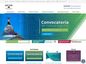 Autonomous University of the State of Morelos's Website Screenshot