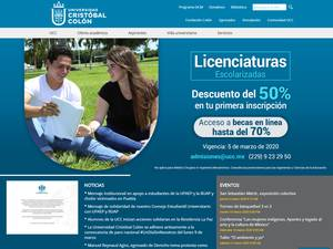 Universidad Cristóbal Colón's Website Screenshot