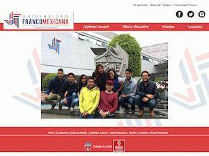 Universidad Franco-Mexicana S.C.'s Website Screenshot
