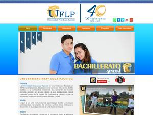 Universidad Fray Luca Paccioli's Website Screenshot
