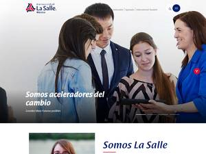Universidad La Salle's Website Screenshot