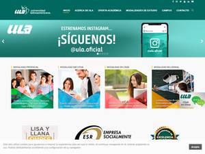 Universidad Latinoamericana S.C.'s Website Screenshot