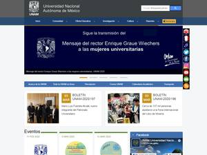 Universidad Nacional Autónoma de México's Website Screenshot