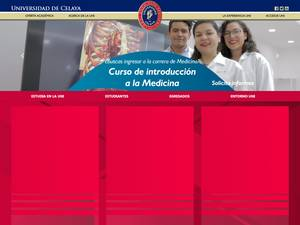 Universidad de Celaya's Website Screenshot