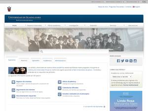 Universidad de Guadalajara's Website Screenshot