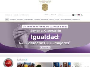 Universidad de Guanajuato's Website Screenshot