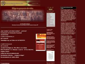 Universidad de Hermosillo A.C.'s Website Screenshot