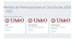 Universidad de Occidente Screenshot