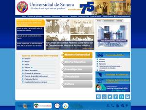 Universidad de Sonora's Website Screenshot