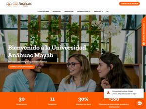 Universidad Anáhuac Mayab's Website Screenshot