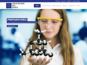 Universidad del Norte A.C.'s Website Screenshot
