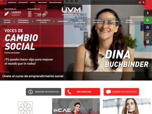 Universidad del Valle de México A.C.'s Website Screenshot