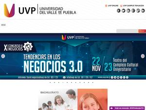 Universidad del Valle de Puebla S.C.'s Website Screenshot