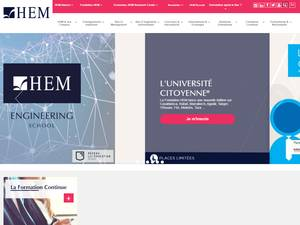 HEM Institut des Hautes Etudes de Management Screenshot