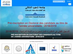 Université Chouaib Doukkali Screenshot