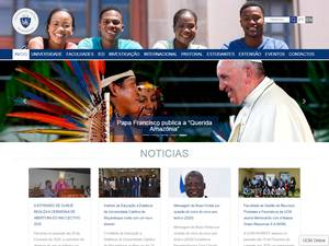 Universidade Católica de Moçambique's Website Screenshot