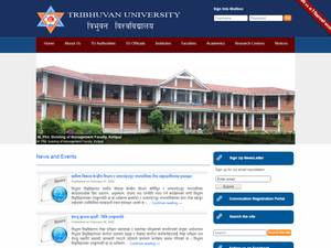 Tribhuvan University's Website Screenshot
