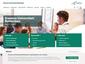 Erasmus Universiteit Rotterdam Screenshot