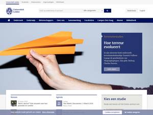 Universiteit Leiden's Website Screenshot
