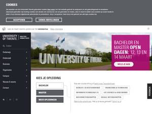 Universiteit Twente's Website Screenshot