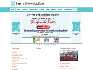 Bayero University Kano's Website Screenshot