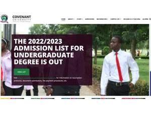 Covenant University's Website Screenshot