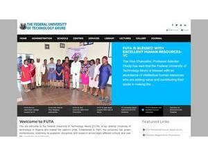 Federal University of Technology, Akure's Website Screenshot