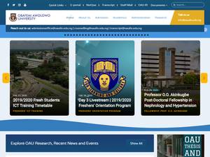 Obafemi Awolowo University Screenshot
