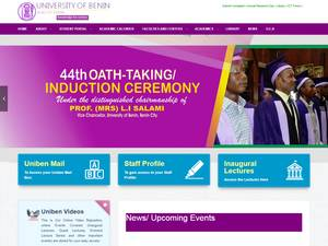 University of Benin's Website Screenshot