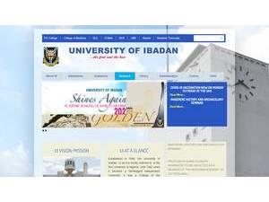 University of Ibadan's Website Screenshot