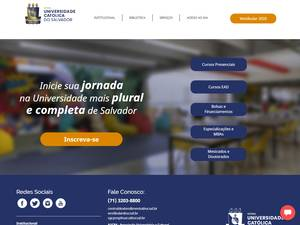 Universidade Católica do Salvador's Website Screenshot