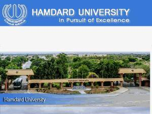 Hamdard University's Website Screenshot