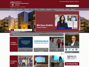 Institute of Business Administration Screenshot