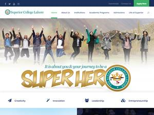 Superior Group of Colleges's Website Screenshot