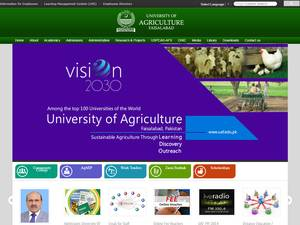 University of Agriculture, Faisalabad Screenshot
