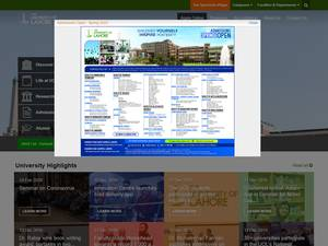 The University of Lahore's Website Screenshot