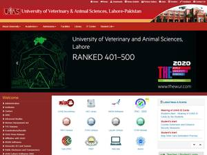 University of Veterinary and Animal Sciences's Website Screenshot