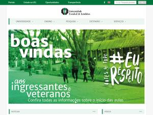 Universidade Estadual de Londrina's Website Screenshot