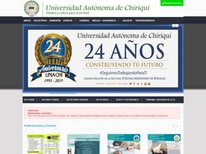 Autonomous University of Chiriqui's Website Screenshot