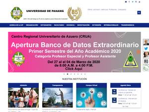 Universidad de Panamá's Website Screenshot