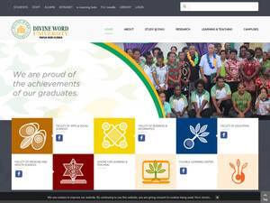 Divine Word University's Website Screenshot
