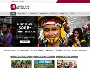 Papua New Guinea University of Technology's Website Screenshot