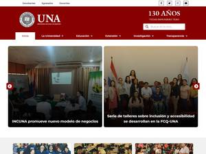 Universidad Nacional de Asunción's Website Screenshot