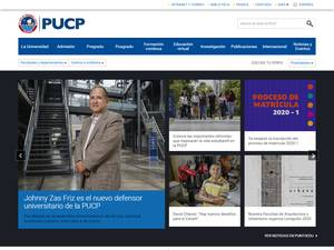Pontificia Universidad Católica del Perú's Website Screenshot