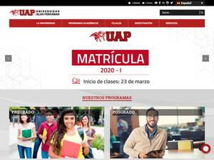 Universidad Alas Peruanas's Website Screenshot