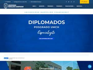 Universidad Marcelino Champagnat's Website Screenshot