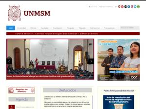Universidad Nacional Mayor de San Marcos's Website Screenshot