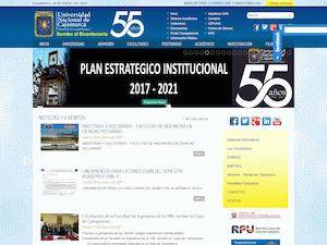 Universidad Nacional de Cajamarca's Website Screenshot