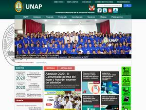 Universidad Nacional de la Amazonía Peruana's Website Screenshot